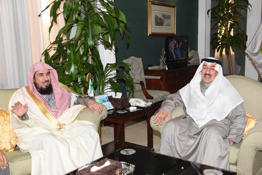 محافظ الجهراء يستقبل فضيلة الشيخ أ. د. عبدالله عبد الرحمن الشثري بمناسبة زيارته للبلاد