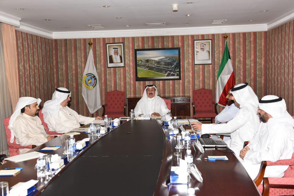 محافظ الجهراء يجتمع بمدير مشاريع محافظة الجهراء في بلدية الكويت