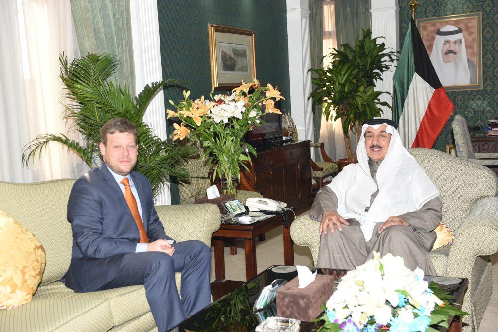محافظ الجهراء يستقبل سعادة سفير مملكة بلجيكا لدى الكويت