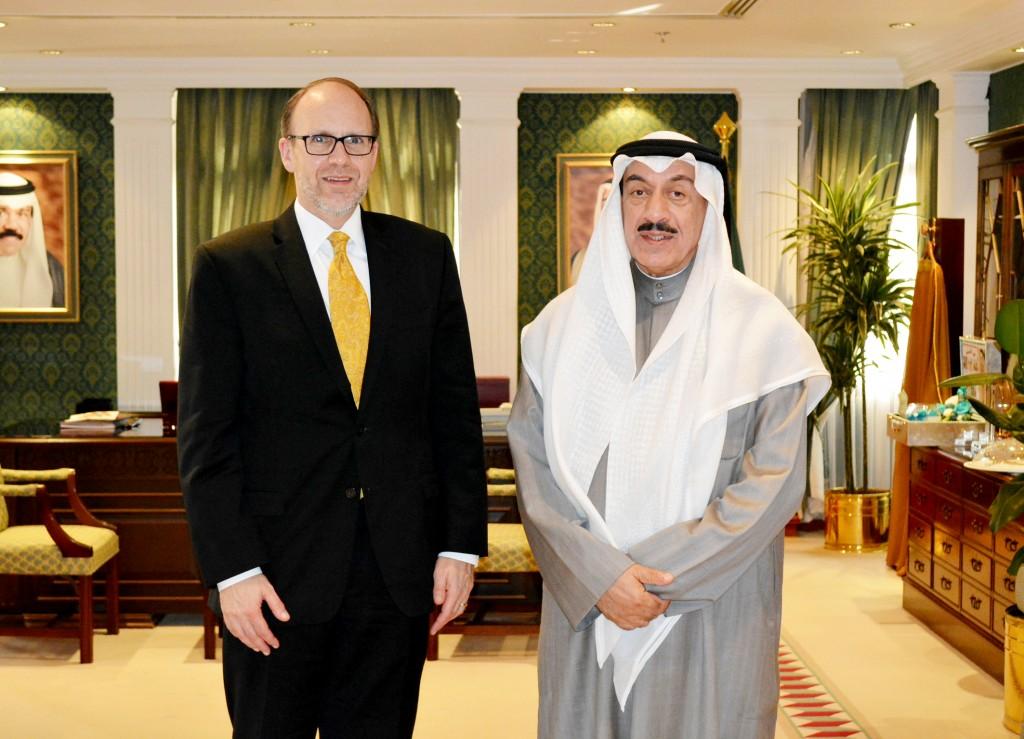 محافظ الجهراء يستقبل سفير الولايات المتحدة الامريكية لدى دولة الكويت