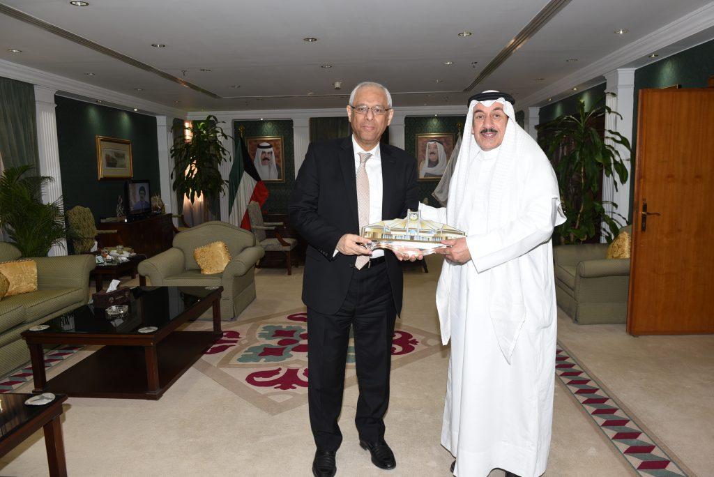 محافظ الجهراء يستقبل سعادة سفير جمهورية مصر العربية لدى دولة الكويت