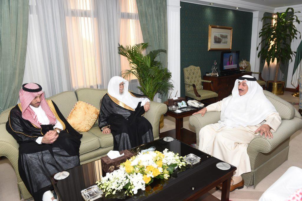 محافظ الجهراء يستقبل الدكتور عبدالله التركي عضو هيئة كبار العلماء والمستشار بالديوان الملكي السعودي